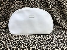 OROTON Leather Makeup Toiletries Bag White With Long Zip *Fantastic Condition!*