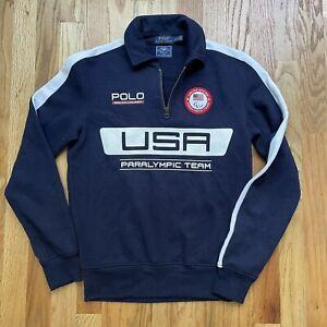 Women's Polo Ralph Lauren 2016 Team USA Olympic Team 1/4 Zip Up Sweatshirt Sz S