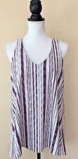 Anthropologie by Puella Women's Striped Swing Tank Sleeveless Top Tunic Size S
