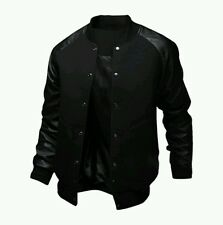 Raglan Sleeve Button Up Leather Slim Fit Jacket