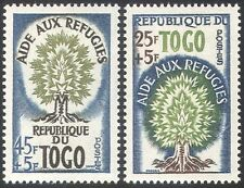 Togo 1960 WRY/Refugees/People/Trees/Welfare/Health/Animation 2v set (n42614)
