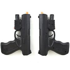 2 PC UKARMS SPRING AIRSOFT PISTOL HAND GUN w/ LASER SIGHT LED FLASHLIGHT 6mm BB