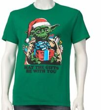 Yoda Christmas shirt Mens Large new may the gifts be with you star wars D2/F5