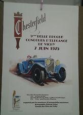 AFFICHE ANCIENNE AUTOMOBILE 9e BELLE EPOQUE VICHY 1975   PREVOST CHESTERFIELD