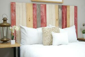 Country Mix Headboard, Hanger Style, Handcrafted. Mounts on Wall.