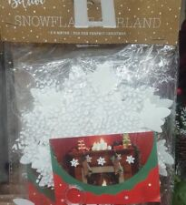 Christmas Snowflake Garland Hanging Decoration Decor Ornament 2.6m Frozen Xmas