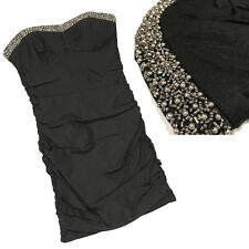City Triangles Junior Sweetheart Bandeau Embellished LBD Mini Dress Size 11