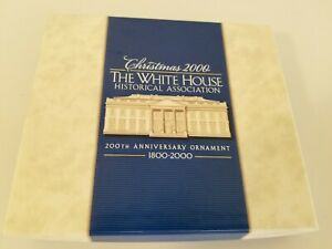 White House 2000 Christmas Ornament Holiday Tree Decoration w/Box
