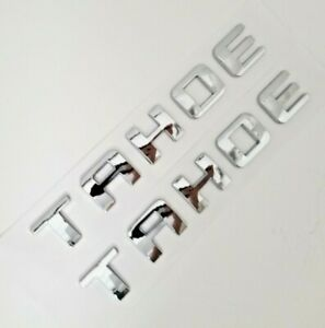 2PC CHROME TAHOE FIT CHEVY FRONT LEFT RIGHT DOOR EMBLEM DECAL BADGE LETTER 95-17
