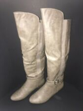 NIB MADDEN GIRL ZILCH Taupe Boots - Size 6.5