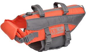 K9 Pursuits High Visibility Easy Grab Float Coat Life Jacket, Orange, XS-XL