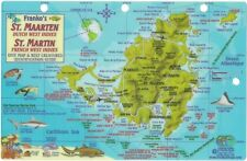 St. Martin & St. Maarten Dive Map & Reef Creatures Laminated Id Card Franko Maps