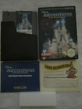 NINTENDO Nes 8 Bit - Disney ADVENTURES In The Magic Kingdom Pal A  Boxed