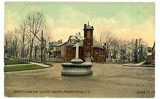Poughkeepsie NY-DRINKING FOUNTAIN AT CLINTON SQUARE- Postcard