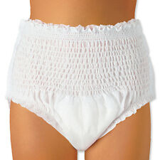 56 Adult Pull Up Incontinence Pants Nappies MEDIUM pads