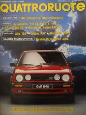 Quattroruote 407 1989 - Test Alfa 164 & Jaguar XJ6 - Mercedes 300 E    [Q43]