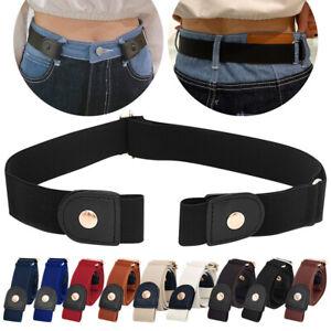 No Buckle Elastic Women Men Child Invisible Jeans Pants Dress Stretch Waist Belt