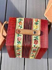 More details for rare 1940's scholer concertina #502 red floral vtg german democratic republic