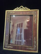 Large Gilt Dore Bronze French Antique Photo Picture Frame with Wood Matting
