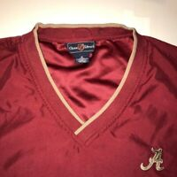 Alabama Crimson Tide Chase Edward V-Neck Pullover Polyester Jacket Mens Small