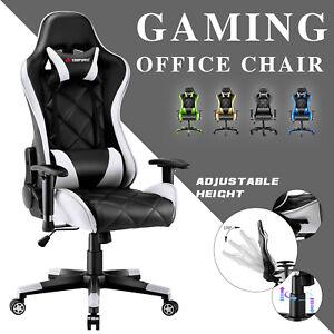 JL Comfurni Executive Home Office Computer Desk Chair Swivel Gaming Recliner