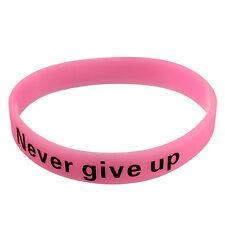 Friendship Silicone Rubber Bracelet Cuff Wristband Wrist Band 12mm Glow In Dark