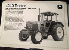 Rare John Deere 4240 tractor brochure leaflet Mannheim Waterloo