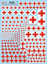 Cruz roja (170x230 mm) Red Cross decal naßschiebebild estampado int-amb1