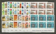 ZIMBABWE 1985/8 SG 659/80 MNH Blocks Cat £162