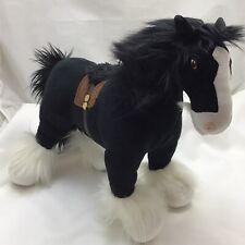 "Disney Store Movie Brave Angus The Horse Black White Merida Saddle Plush 15"" Toy"