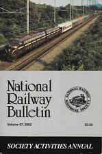 NRHS Bulletin V67 N6 2002 Society Activities Annual