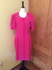 KASPER USA Macys Vestido. EE. UU. 8 UK 12. Calidad Fabulosa Vestido Lápiz de color rosado.