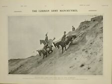 1903 PRINT SCOUTING PARTY CAVALRYMEN GERMAN ARMY MANOEUVRES RECONNOITRING