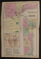 New York  Ontario County Map Geneva Township 1874 Dbl Pg  W15#10