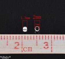 200 Schiaccini 2mm argentati endperlen Crimps gioielli realizzerà