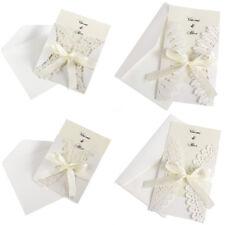 10 Cartes Invitation Faire-part Mariage Anniversaire Voeux + Enveloppes ruban
