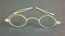 V Small Antique Spectacles Glasses & Case Folding Arms Steampunk Teddy Doll Prop