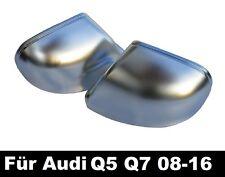 Q5 SQ5 Q7 Für Audi ALU SPIEGEL SPIEGELKAPPEN ALUMINIUM MATT Cover 08-16 =18