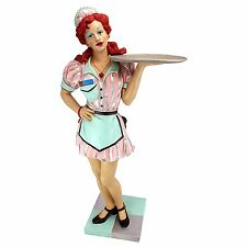 EU9342- Retro Rosie Diner Dame Serving Table Statue - 1950's luncheonette Flair!