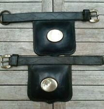Heavy Horse Harness. A pair of thick leather blinkers