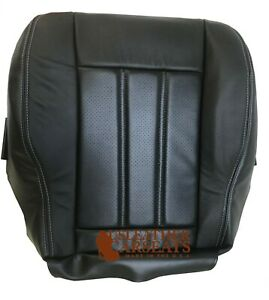 12 Chrysler Town&Country Driver Bottom Leather Perforated Vinyl Seat Cover Black