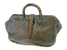 Vintage DOCTOR'S BAG Brown Cowhide Leather Medical Bag House Call