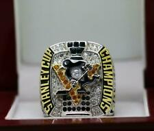 Pittsburgh Penguins CROSBY Hockey 2017 Stanley Cup Championship Ring 18k GP *USA