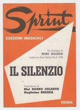 Spartito IL SILENZIO Nini Rosso Guglielmo Brezza - 1975 Fisarmonica mandolino