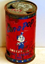 Can-a-Pop Black Cherry; Denver, CO; Solid top / flat top steel soda Pop Can
