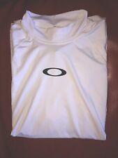 Ladies Lg White Oakley Bicycle Exercise Short Sleeve Shirt