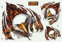PLANCHE 3 AUTOCOLLANT TUNING AIGLE ROYAL FIRE EAGLE DIMENSIONS 26,5 X 17,5 CM