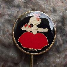 Antique Rumcajs Wife Manka Vecernicek Classic Czech Childrens Cartoon Pin Badge