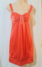 BEATA STUDIO Orange Satin Cocktail Clubwear Bubble Dress Size 9/10