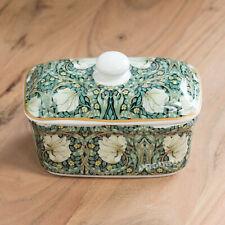 Butter Storage Dish with Lid Vintage Floral Pimpernel Serving Bowl Dining Table